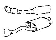 Toyota Land Cruiser EXHAUST PIPE Parts
